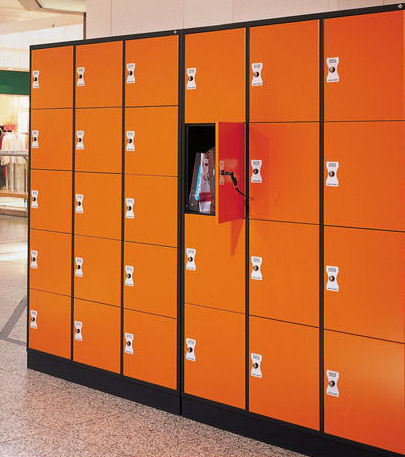 Armoire à casiers orange