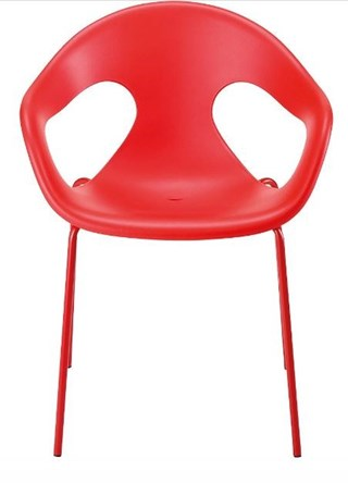 Chaise coque polypro en rouge